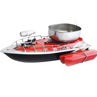 Remote Control Bait Fishing Boat RC Fish Finder Fishing Lure Boat with Searchlight Red