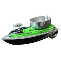 Remote Control Bait Fishing Boat RC Fish Finder Fishing Lure Boat with Searchlight Green