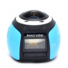 V1 360 Degree Mini WiFi Panoramic Video Camera 2448P 30fps 16MP Photo 3D Sports DV VR Blue