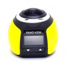 V1 360 Degree Mini WiFi Panoramic Video Camera 2448P 30fps 16MP Photo 3D Sports DV VR Video Yellow