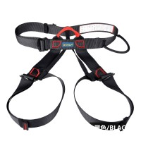XINDA Outdoor Sports Rock Climbing Half Body Waist Support Safety Belt Harness Aerial Equipment Black