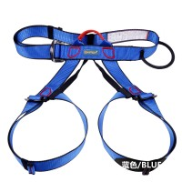 XINDA Outdoor Sports Rock Climbing Half Body Waist Support Safety Belt Harness Aerial Equipment Blue
