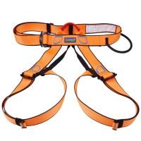 XINDA Outdoor Sports Rock Climbing Half Body Waist Support Safety Belt Harness Aerial Equipment Orange