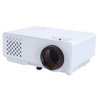 RD-810 Mini LCD Projector Home Theater HD Video Multimedia Player Beamer 1080P White