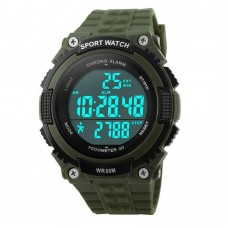 Skmei Men Sport Digital Watch Clock Wristwatch 50M Waterproof Student Watch Pedometer