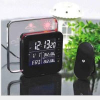 Weather Station LED Forecast Temperature Humidity Tester Clock Date Time Display