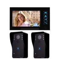 "WD02K-21 7"" Color LCD Video Door Phone Wired Doorbell Video Intercom 2 to 1 Infrared Night Vision"