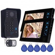 "WD02SR-12 7"" Color LCD Video Door Phone Door Access Control System 1 to 2 for Security"