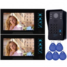 "WD02S-12 7"" Color LCD Video Door Phone Door Access Control 1 to 2 Night Nivision Home Security"