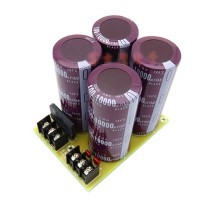 4Pcs 100V 10000uF Electrolytic Capacitor Power Amplifier Rectifier Filter Board