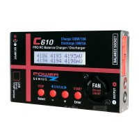 C610 Pro RC Lithium Battery Balance Charger 120W 10A Discharger Impedance Test for Airplane