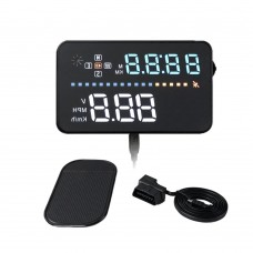 "A3 HUD 3.5"" Car Head Up Display Vehicle Speeding Warning OBD2 Digital Speedometer GPS"
