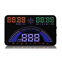 "Universal S7 5.8"" Car GPS HUD Head Up Display Vehicle OBD & GPS System with Overspeed Alarm"
