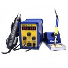 BAKU BK-878L2 220V 700W LED Digital Hot Air Gun SMD Rework Station with Soldering Iron