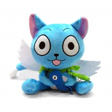 Anime Fairy Tail Habib Hold Fish Naz Cat Doll Stuffed Toy Animation Cartoon Super Wings Plush Toy