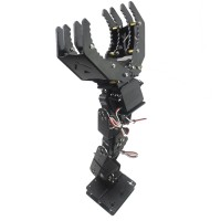 6DOF Robot Mechanical Arm Hand Clamp Claw Manipulator w/ MG996R Servo for Arduino DIY