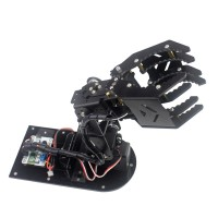 4DOF Robot Mechanical Arm Hand Clamp Claw Manipulator Frame w/ Servo Horn for Arduino DIY