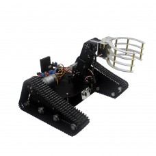 Smart Tracked Robot Car Chassis Caterpillar + 4DOF Mechanical Arm + Digital Servo for DIY