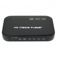 Digital Mini HD 1080P USB HDD Media Player HDMI VGA SD MMC Audio Video Remote Controller Player HD601