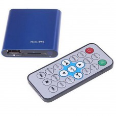 Mini 1080P HD Media Player HDMI AV Output HDD U-Disk Video Player Support USB Host Blue