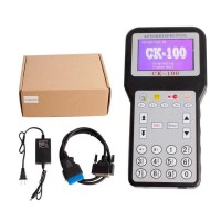 CK100 V99.99 Auto Key Programmer Multi Language w/ Power Supply for Car Automobile