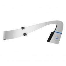 LF-18 Wireless Bluetooth 4.1 Stereo Headset Waterproof Neck-Strap Headphone Bone Conduction NFC Hands-Free Earphone White