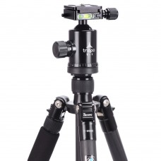 TRIOPO T-668C Carbon Fiber Tripod with Gimbal Kit for DSLR Camera Photography