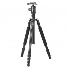T-2504C Tripod Holder + Gimbal Multidirection Central Axis for DSLR Camera Photography Black