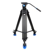 KH-26NL Tripod Hydraulic Pressure Gimbal Quick Release Plate Combo for DSLR Camera Photography