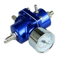 Universal Adjustable Tomei Style Fuel Pressure Regulator Regulating Valve with Gauge
