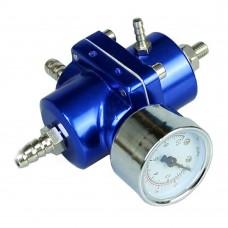 Universal Adjustable Tomei Style Fuel Pressure Regulator Regulating Valve with Gauge