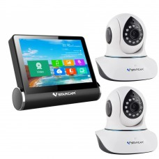 VStarcam NVS-K200 Wireless Network Video Server Monitor + WIFI CCTV IP Camera C7838WIP