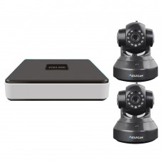 VStarcam N400 Eye4 Onvif 4CH NVR HD ONVIF Network Video Recorder + Wireless CCTV IP Camera C7837WIP