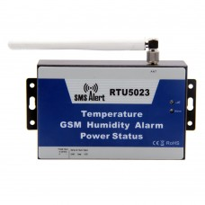GSM Temperature Humidity Environment Alarm SMS Alert Remote Monitor DC Power Timer Report APP Control RTU5023