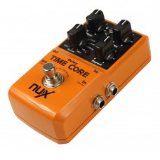 NUX Time Core Guitar Effect Pedal 7 Delay Models True Bypass Guitar Pedal with Loop Machine