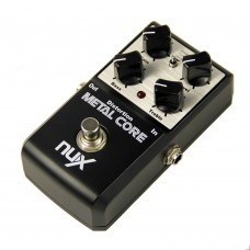 NUX Metal Core Distortion Effect Pedal True Bypass Guitar Effects Pedal 2-Band EQ Tone Lock Preset Function