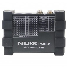 NUX PMS-2 Guitar Switcher MIDI Switcher Remote Control 6 Devices 128 Presets Lock Function