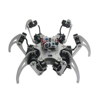18DOF Aluminium Hexapod Spider Six Legs Robot Kit w/ 18pcs MG996R Servo& Ball Bearing -Silver