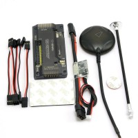 APM V2.8.0 ArduPilot UAV Flight Controller No Compass with Ublox Neo-6M GPS & Power Module for FPV Multicopter