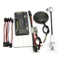 APM V2.8.0 ArduPilot UAV Flight Controller No Compass with uBlox Neo-7M GPS & Power Module for FPV Multicopter