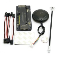 APM V2.8.0 ArduPilot UAV Flight Controller No Compass with UBLOX Neo-7M GPS Module & Folding Holder for FPV Multicopter