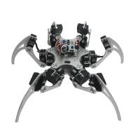 Assembled 18DOF Aluminium Hexapod Spider Six Legs Robot Kit with LD-1501 Servos & Controller -Silver