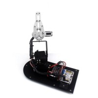 3DOF Robot Mechanical Arm Manipulator with Clamp Claw Gripper for DIY Education Teaching
