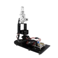 3DOF Robot Mechanical Arm Manipulator w/Servo Servo Horn Clamp Claw Gripper for Education Teaching