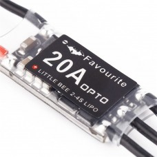 FPV TZT 20A PRO 2-4S BL HELI ESC VS Little Bee Oneshort 125 C8051F396 50M for 250 Quadcopter 4-Pack