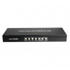 ALL to SDI Scaler Converter CVBS VGA DVI HDMI to HD-SDI 3G-SDI Signal Converter HDV-SA01