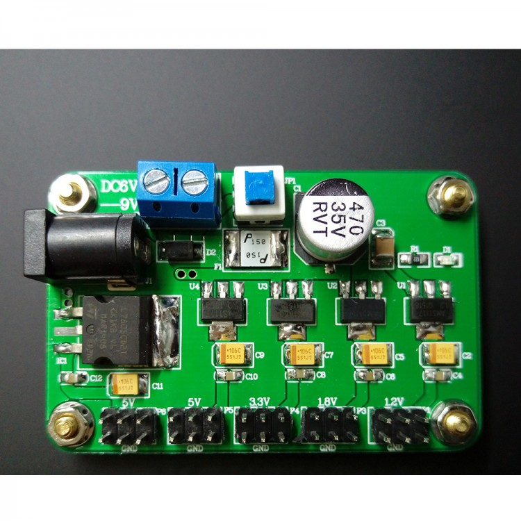 LM7805 Linear Power Supply Module Dual Channel 5V 1 2V 1 8V 3 3V