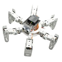 Hexapod Robot Six Leg Spider Kit with Servo Ultrasonic Module PS2 Handle for DIY Arduino Robotics Assembled
