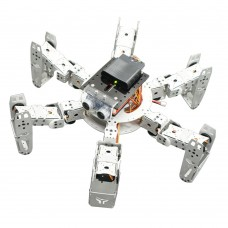 Hexapod Robot Six Leg Spider Kit with Servo Ultrasonic Module PS2 Handle for DIY Arduino Robotics Assembled