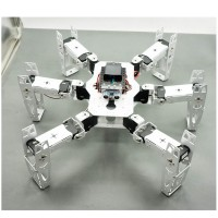 Hexapod Robot Six Leg Spider Full Kit with Servo Horn Ultrasonic Module for DIY Arduino Robotics Assembled